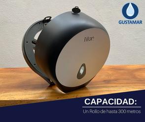 CAPACIDAD DEL DESPACHADOR DE PAPEL HIGIÉNICO TITAN MINI NEGRO 8002LB