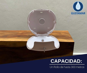 CAPACIDAD DEL DESPACHADOR DE PAPEL HIGIÉNICO TITAN BLANCO MINI DIAMANTE 51065