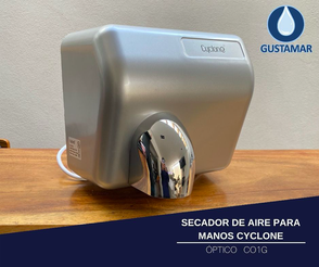 SECADOR DE AIRE PARA MANOS ÓPTICO CYCLONE GRIS CO1G