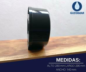 MEDIDAS DEL DISPENSADOR DE PAPEL HIGIÉNICO JOFEL MINI BLACK - NEGRO AE57600