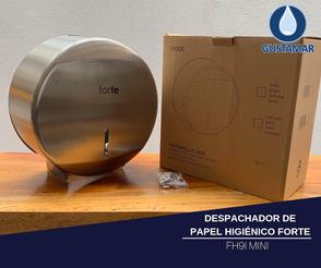 CARACTERÍSTICAS DEL DESPACHADOR DE PAPEL HIGIÉNICO FORTE ACERO INOXIDABLE MINI FH9I