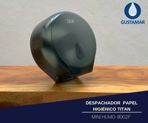 DISPENSADOR DE PAPEL HIGIÉNICO TITAN MINI HUMO 8002F