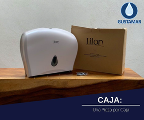 CAJA DEL DISPENSADOR DE PAPEL HIGIÉNICO DOBLE TITAN 8003W BLANCO