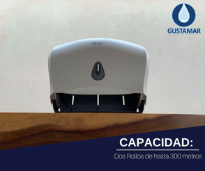 CAPACIDAD DEL DISPENSADOR DE PAPEL HIGIÉNICO DOBLE TITAN 8003S