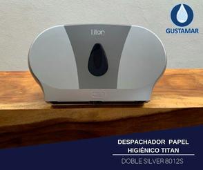 DESPACHADOR DE PAPEL HIGIÉNICO DOBLE TITAN 8012S