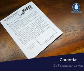 GARANTÍA DEL DISPENSADOR DE PAPEL HIGIÉNICO JOFEL MAXI ATLÁNTICA ANTIBACTERIAL AE38000