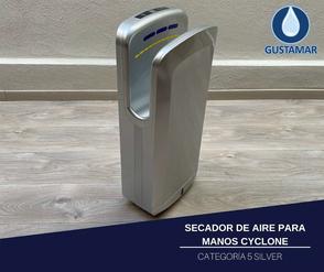 SECADOR DE AIRE PARA MANOS ÓPTICO CYCLONE VERTICAL SILVER CO5S
