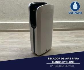 SECADOR DE AIRE PARA MANOS ÓPTICO CYCLONE VERTICAL BLANCO CO5W