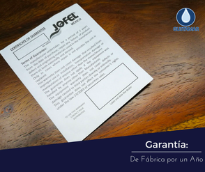 GARANTÍA DEL DESPACHADOR DE PAPEL HIGIÉNICO JOFEL MAXI BLACK - NEGRO AE58600