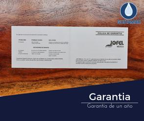 GARANTÍA DEL SECADOR DE AIRE PARA MANOS / SECAMANOS JOFEL FUTURA INOXIDABLE PULSADOR AA15126