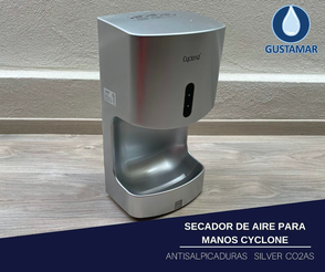 SECADOR DE AIRE PARA MANOS ÓPTICO CO2AS ANTISALPICADURAS