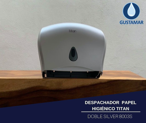 DISPENSADOR DE PAPEL HIGIÉNICO DOBLE TITAN 8003S