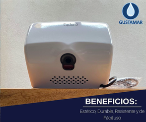 BENEFICIOS: SECADOR DE AIRE PARA MANOS ÓPTICO CYCLONE HORIZONTAL CO2BH