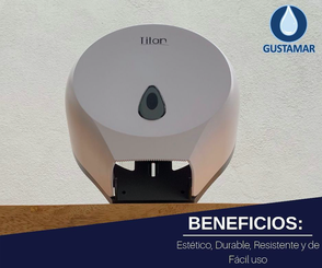 BENEFICIOS DEL DISPENSADOR DE PAPEL HIGIÉNICO TITAN MINI BLANCO 8002W