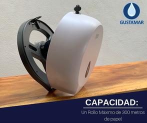 CAPACIDAD DEL DESPACHADOR DE PAPEL HIGIÉNICO TITAN MINI BLANCO 8002W
