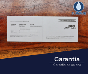 GARANTÍA DEL SECADOR DE AIRE PARA MANOS / SECAMANOS JOFEL FUTURA INOXIDABLE ÓPTICO AA16126