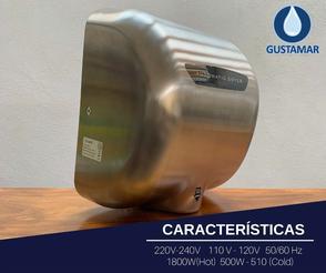 CARACTERÍSTICAS DEL SECADOR DE MANOS / SECAMANOS CYCLONE TIPO XLERATOR CO3S