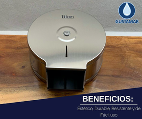 BENEFICIOS DEL DISPENSADOR DE PAPEL HIGIÉNICO TITAN MINI ACERO INOXIDABLE