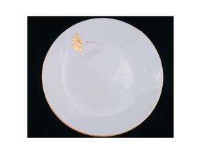 Ginkgo assiette nara porcelaine