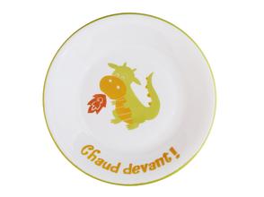 Assiette enfant Dragon personnalisable