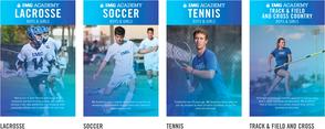 ラクロス、サッカー、テニス、陸上