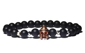 bracelet homme noir gladiateur cuivre