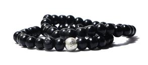 bracelet noir en bois pour homme