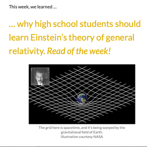 Why high school students should learn Einstein's theory of general relativity