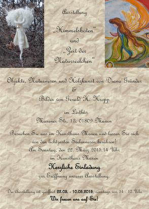 Plakat und Einladung zur Ausstellung im Listhus in Maxen.