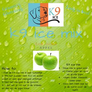 Hondenijs Appel K9 ice mix