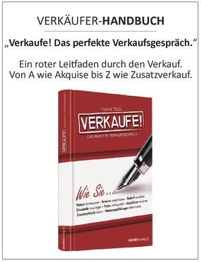 Das Verkaufsbuch als Verkaufsleitfaden zu ihrem persönlichen Verkaufstraining - so lernen Sie erfolgreich zu verkaufen
