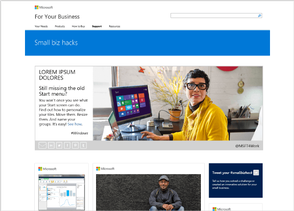 Microsoft Small Business website