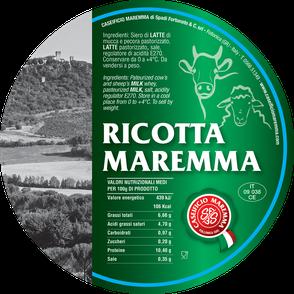 maremma formaggio ricotta caseificio toscano toscana spadi follonica etichetta italiano origine latte italia fresco mista misto pecora mucca vacca bovino