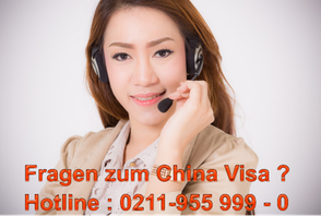 China Visa Hotline : 0211-955999 0