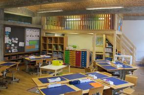 Hochboden in Klassenzimmer