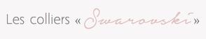 Collier Sautoir long perles cristaux Swarovski