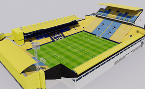 Estadio de la Ceramica - Villarreal Spain low-poly 3d model ready for Virtual Reality (VR), Augmented Reality (AR), games and other real-time apps.