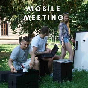 Mobiles Meeting xBricks - Mobiler Besprechungsraum