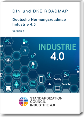 Coverbild der Deutschen Normungsroadmap Industrie 4.0-Version 4
