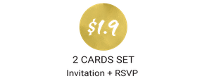 invitations with RSVP postcards