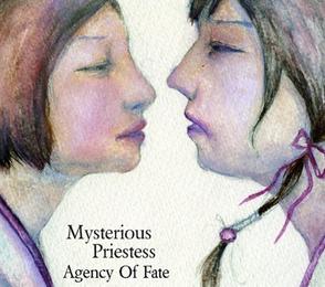メタルバンドMYSTERIOUS PRIESTESS 1stアルバム「Agency Of Fate」ジャケットデザイン