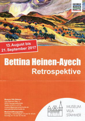Ausstellungsplakat Retrospektive 2017 in der Villa Stahmer in Georgsmarienhütte