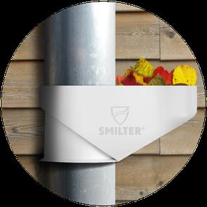 Der SMILTER Laubfang ist der beste Dachrinnenschutz für Regenrinnen und Fallrohre! Das Laub wird im Laubfangkorb gesammelt und kann ganz einfach entfernt werden. Der Laubfilter bietet den effektivsten Dachrinnenschutz.