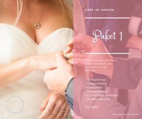 Hochzeitspaket 1 für 495 Euro.