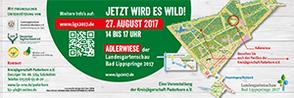 Flyer der Kreisjägerschaft Paderborn zum Jägertag während der Landsgartenschau in Bad Lippspringe 2017