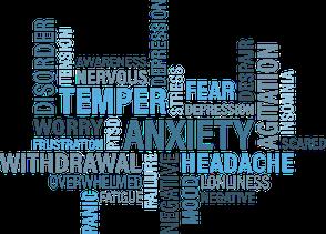 Immagine con molte scritte legate a disturbi