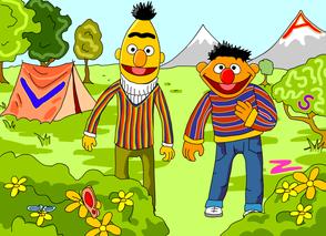 letters zoeken met Bert & Ernie