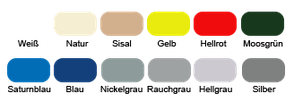 Airtex Top - Farbpalette
