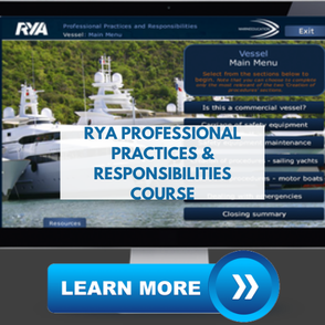 rya professional practices and responsibilities online  course for superyacht crew