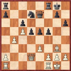 Wagner - Gottas: Weiß spielte das starke 22.b5! was Schwarz nach langem Nachdenken dazu brachte das Remisangebot zu akzeptieren
